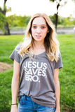 Jesus saves bro everyday vneck