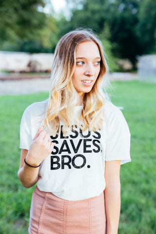 Jesus saves bro rocker tee