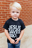 Jesus saves bro littles triblend tee