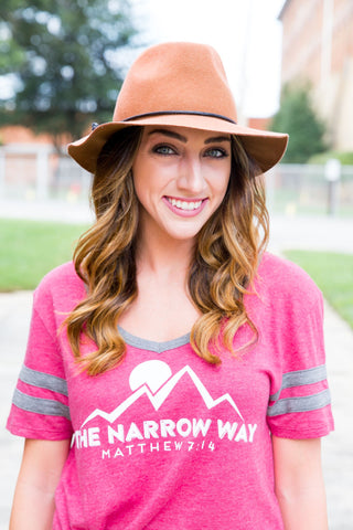 narrow way varsity tee