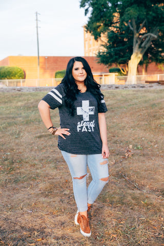 steadfast football tee