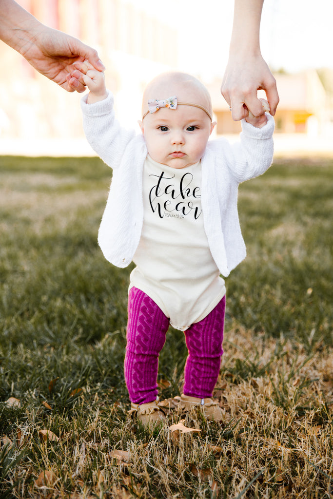 take heart littles organic tee