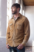 Ryan Michael Men's Ellsworth Stout Leather Shirt - Tan - SALE