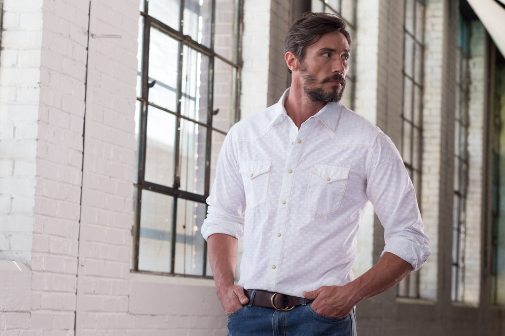Ryan Michael Men's Jacquard Shirt