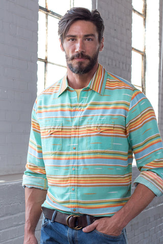 Ryan Michael Men's Serape Stripe Shirt - SALE