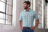 Ryan Michael Men's Ombre Plaid Short Sleeve Shirt - SALE