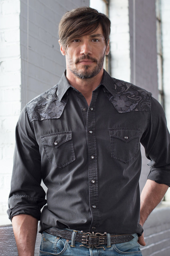Ryan Michael Men's Silk Embroidered Shirt - SALE