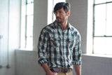 Ryan Michael Men's Dobby Plaid Shirt - SALE