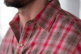 Ryan Michael Men's Ombre Plaid Shirt