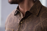 Ryan Michael Men's Aztec Jacquard Shirt - Chestnut
