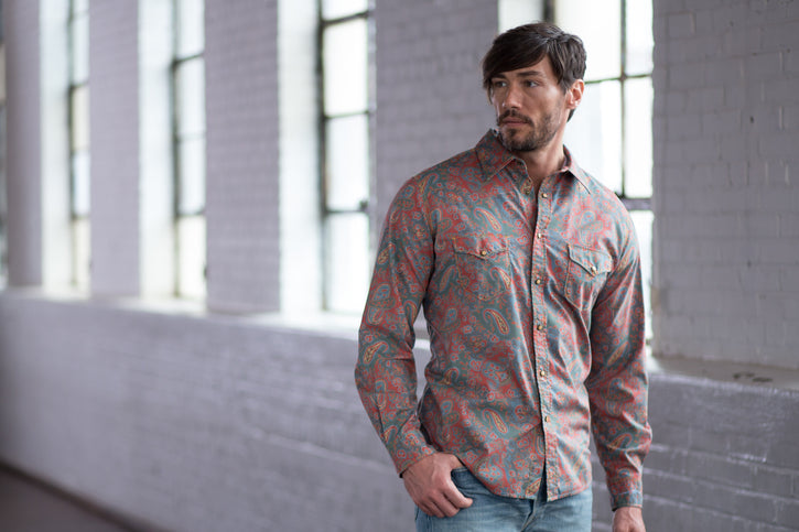 Ryan Michael Men's Vintage Paisley Print Shirt - SALE