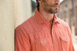 Ryan Michael Men's Split Rail Seam Shirt - Clay