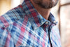 Ryan Michael Men's Double Faced Indigo Plaid Shirt - SALE