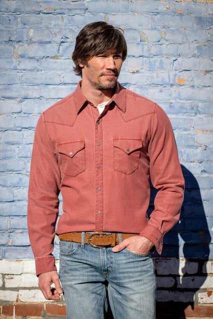 Ryan Michael Men's Redfish Textured Shirt - Bandana