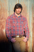 Ryan Michael Men's Wind River Indigo Plaid Shirt