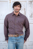 Ryan Michael Men's Saddleback Pick Stitch Shirt - Mesquite