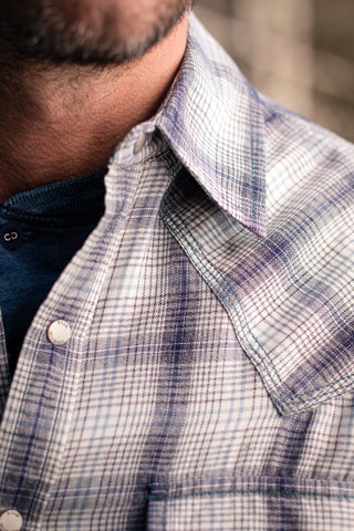 Ryan Michael Men's Vintage Jaspe Plaid Shirt - SALE