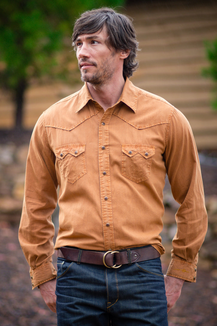 Ryan Michael Men's Larkspur Shirt - Rye - SALE