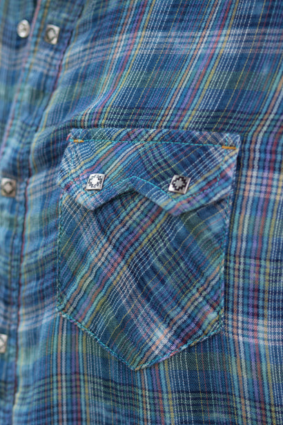 Ryan Michael Men's Fiesta Double-Faced Plaid Shirt