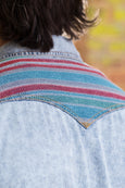 Ryan Michael Men's Bulverde Serape Indigo Shirt