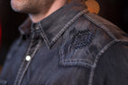 Ryan Michael Men's Black Sand Indigo Embroidered Shirt