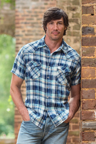 Ryan Michael Men's Barton Springs Plaid Short Sleeve