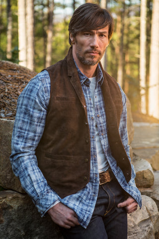 Ryan Michael Flat Creek Leather Vest