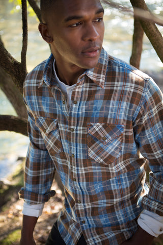 Ryan Michael Men's Big Mesa Plaid - SALE