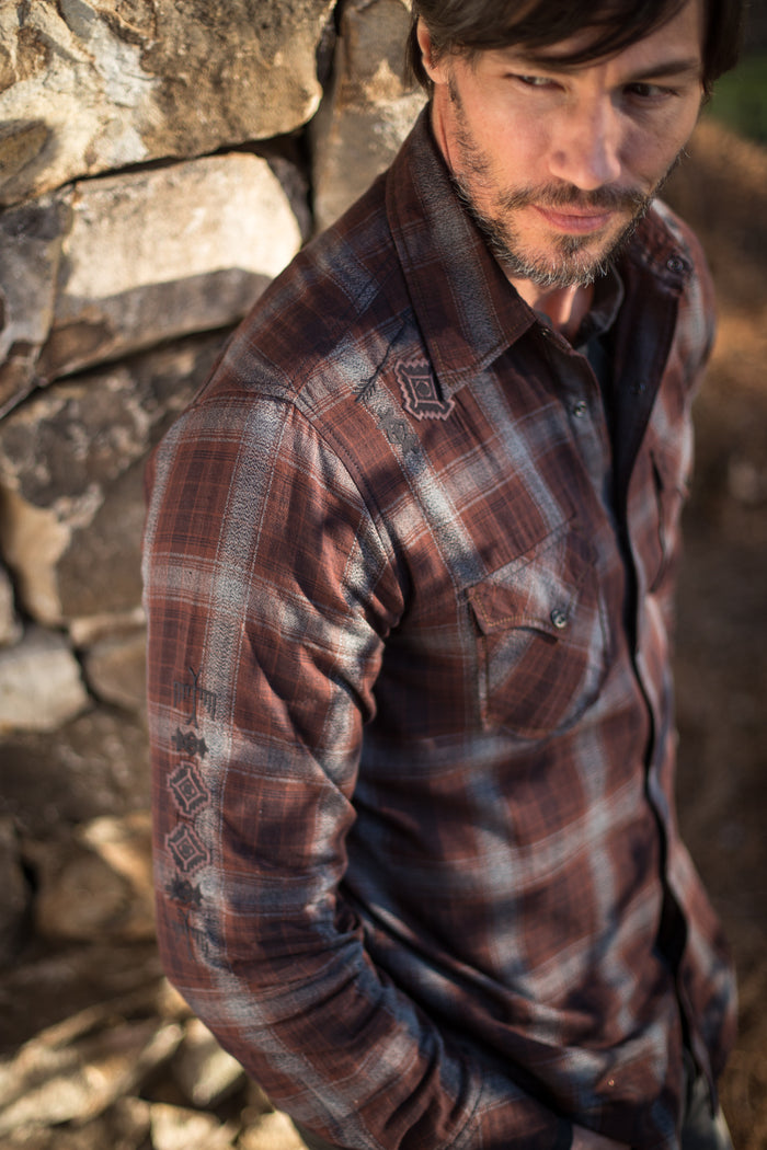 Ryan Michael Men's Snake River Plaid Shirt