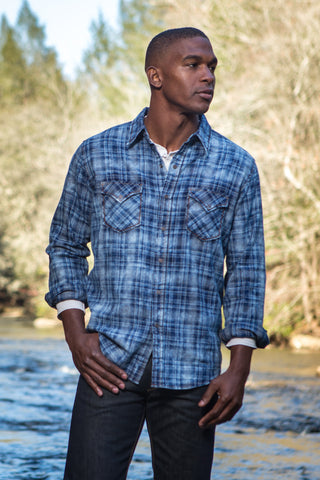 Ryan Michael Men's Roaring Forks Plaid Shirt