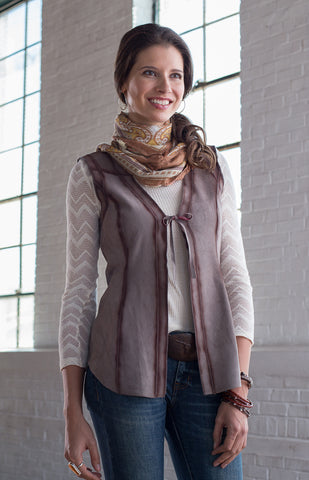 Ryan Michael Women's Reversible Leather Vest