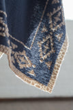 Ryan Michael Headdress Reversible Shawl - Indigo - SALE