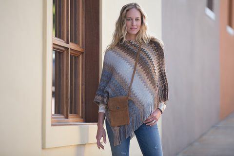 Ryan Michael Women's Cozy Zig Zag Shawl - Saffron - SALE