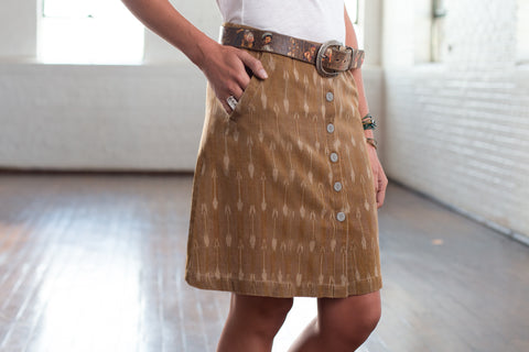 Ryan Michael Women's Ikat Arrow Skirt - SALE