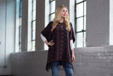 Ryan Michael Women's Sunburst Jacquard Poncho - SALE
