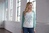 Ryan Michael Women's Embroidered Baseball Tee - SALE