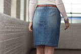 Ryan Michael Women's Button Front Denim Skirt - SALE