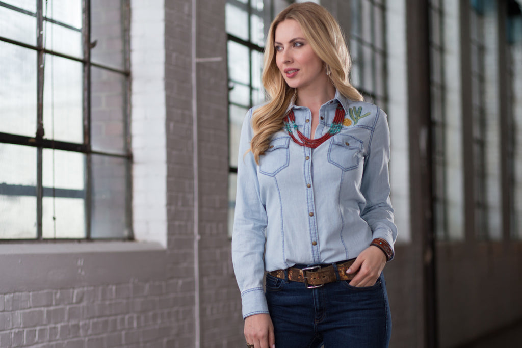Ryan Michael Women's Embroidered Shirt - SALE
