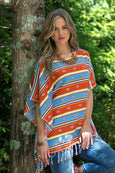 Ryan Michael Women's Serape Striped Poncho - SALE