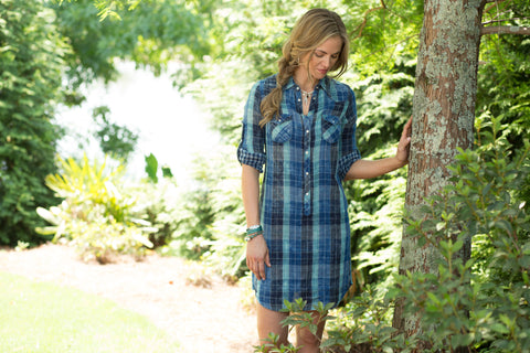 Ryan Michael Women's Lake Travis Plaid Dress