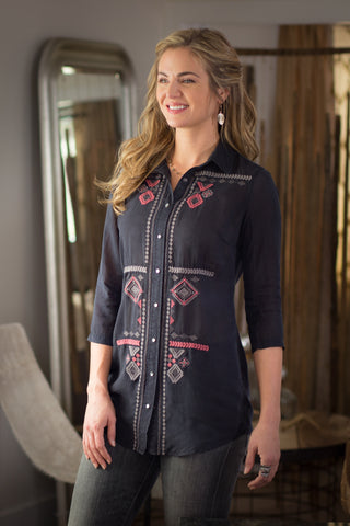 Ryan Michael Women's Embroidered Tunic - SALE