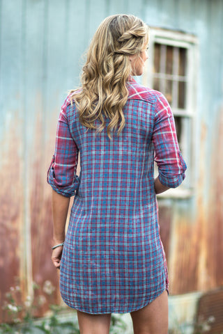 Ryan Michael Women's Double Face Plaid Dress