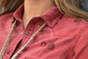Ryan Michael Women's Bucking Horse Stamp Shirt