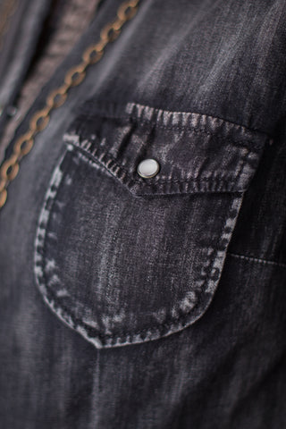 Ryan Michael Black Denim Shirt - SALE