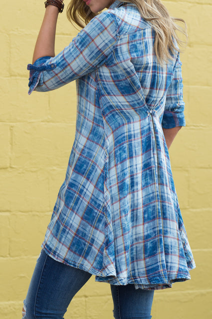 Ryan Michael Women's Mountain Plaid Tunic - SALE