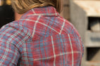 Ryan Michael Women's Double Face Plaid Shirt