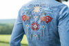 Ryan Michael Women's Sun Valley Embroidered Denim Shirt