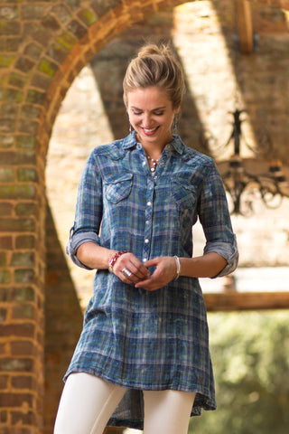 Ryan Michael Women's Fiesta Plaid Tunic