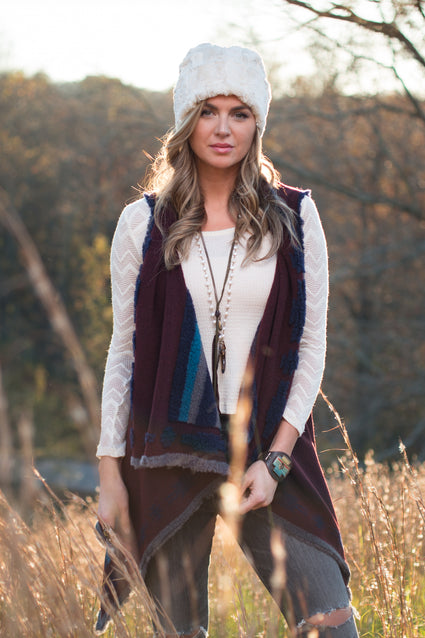 Ryan Michael Women's Huckleberry Reversible Shawl - SALE