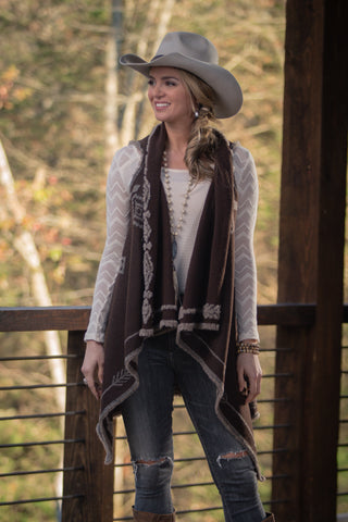 Ryan Michael Women's Wildhorse Reversible Shawl